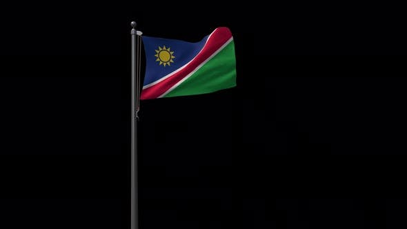 Namibia Flag With Alpha 4K