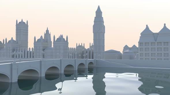 Thumbnail for London Landscape Cartoon Background