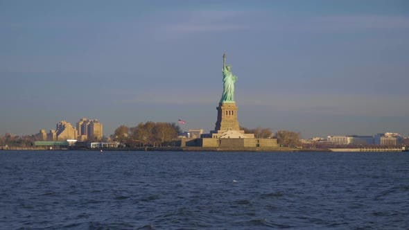 Thumbnail for Statue of Liberty in the Morning. New York City. View From the Water