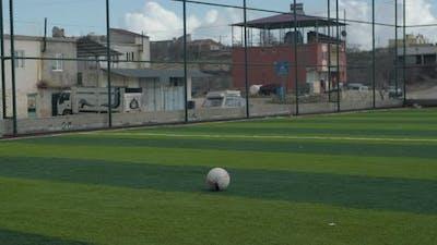 Footballer Long Shot Soccer Field