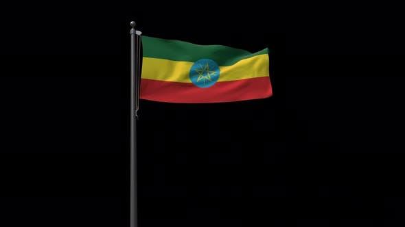 Ethiopia Flag With Alpha 4K
