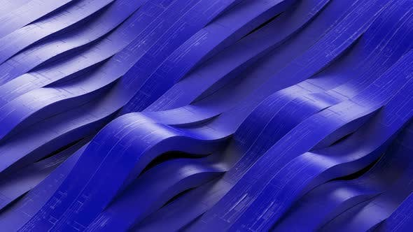 Futuristic Wave Blue