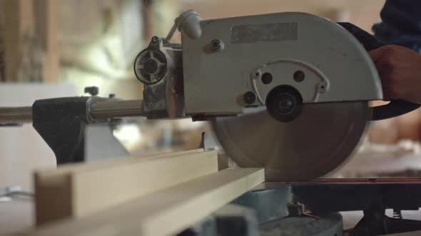 Thumbnail for Circular Saw Cutting Through Wood