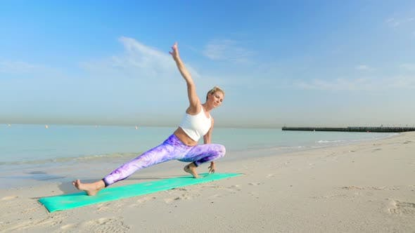 Thumbnail for Woman Doing Yoga Stretching on the Mat