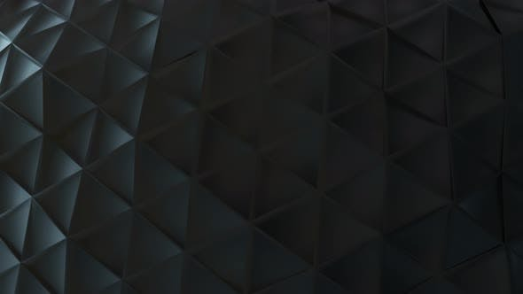Abstract Black Plastic Surface Made From Connected Triangles