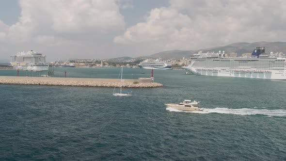 Thumbnail for Cruise Ship And Yacht In Mallorca