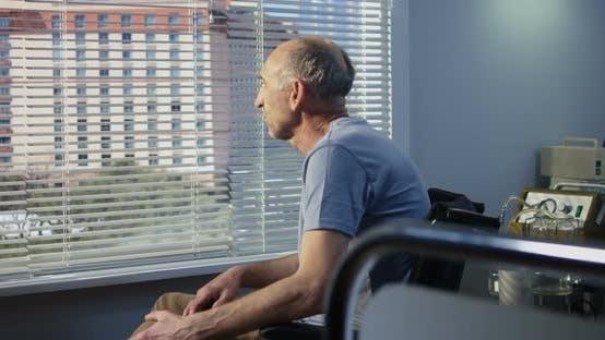 Thumbnail for Elderly Male Patient in Hospital Near the Window