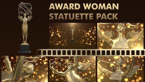Award Woman Statuette Pack