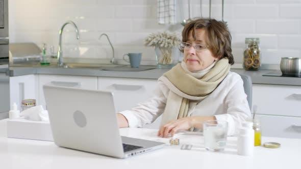 Thumbnail for Ill Woman Talking Online