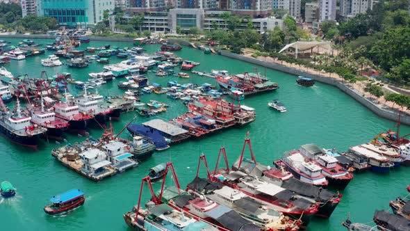 Thumbnail for Aberdeen, Top view of Hong Kong city