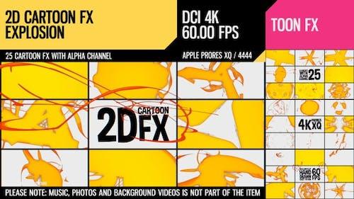 2D Cartoon FX (Explosion Set 17)