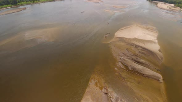 Thumbnail for Aerial High Altitude Flight Over The Drought River