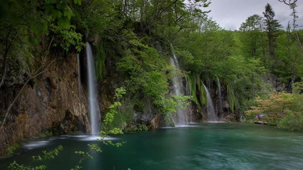Thumbnail for plitvice lakes waterfalls croatia rivers natural wonder