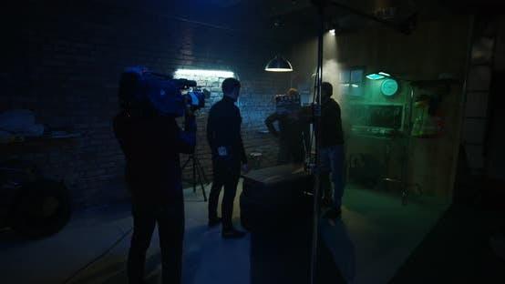 Thumbnail for Film Crew Shooting Scene of Fight