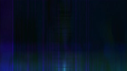 Colourful Blue Green Error Glitch VJ Loop with Scan Lines and Ghost Images