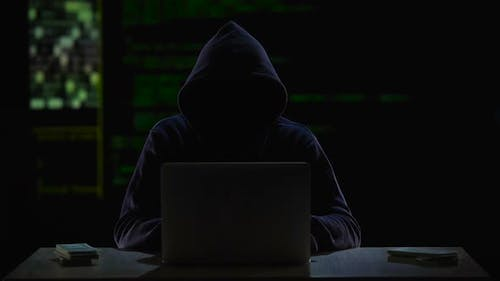 Cybercriminal Transferring Money to Offshore Bank Account, Illegal Profit
