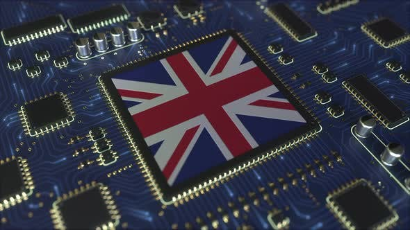 Flag of the United Kingdom on the Chipset