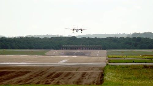 The plane is landing