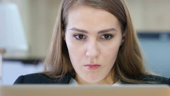 Thumbnail for Angry Woman Working on Laptop in Office