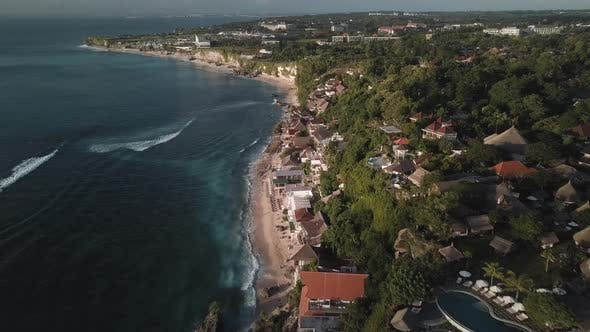 Thumbnail for Cinematic Drone Fly Over Bingin Beach in Bali Indonesia