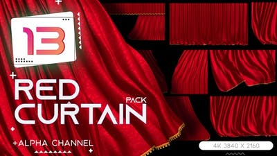 Stage Red Curtain Pack - Theater Drapes
