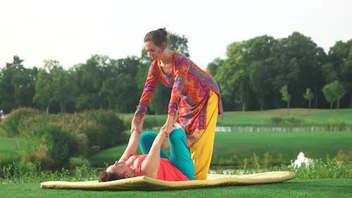 Thai Yoga Stretching Outdoor