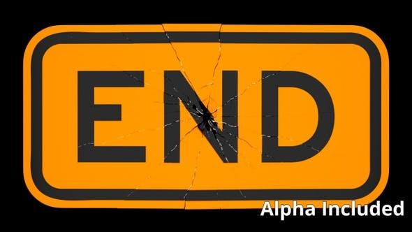 Cover Image for Orange End Sign Shattering on Black with Matte