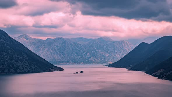 Rain Clouds in the Kotor Bay