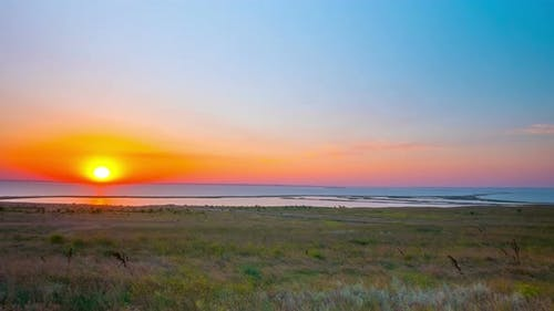 Lake Tuzla and Tuzla Spit, Sunset