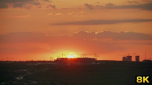 Sunset on Giant Construction Complex