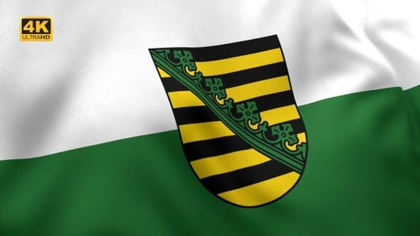 Thumbnail for Saxony Flag with Emblem - 4K