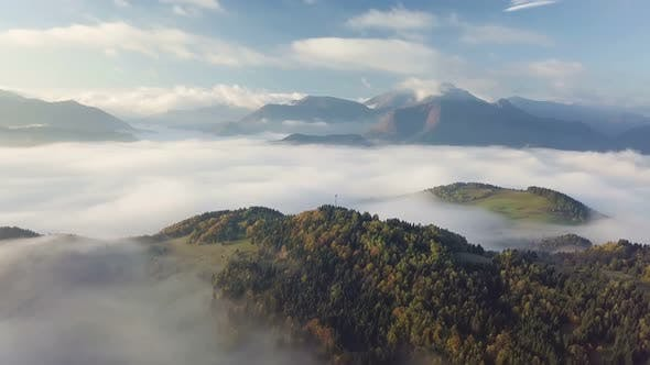 Thumbnail for Aerial Autumn Mountains Forest Landscape