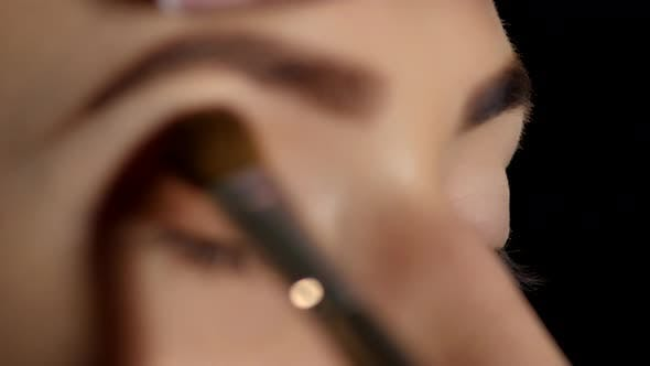 Thumbnail for Make-up Cosmetics. Eyeshadow. Black. Closeup