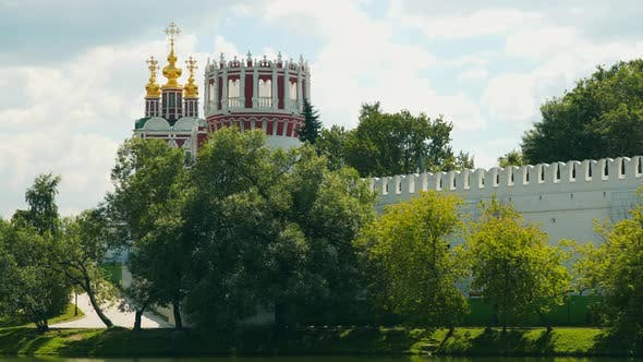 The Walls and Domes of the Novodevichy Convent Church
