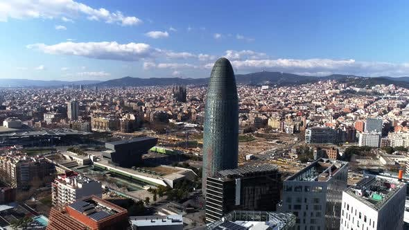 Thumbnail for Flying Over Barcelona, Spain