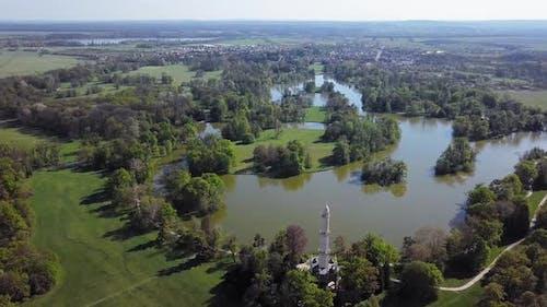 Aerial View of Lednice Park, Czech Republic