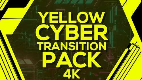 4k Yellow Cyber Transition Pack