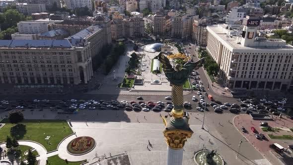 Ukraine: Independence Square, Maidan. Aerial View