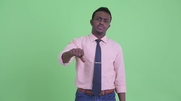 Thumbnail for Angry Young African Businessman Giving Thumbs Down