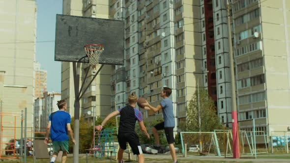 Thumbnail for Streetball Player Scoring a Point After Fast Break