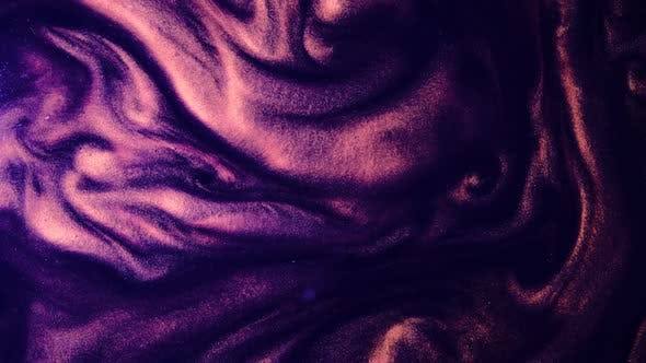 Thumbnail for Violet Golden Abstract Ink Background