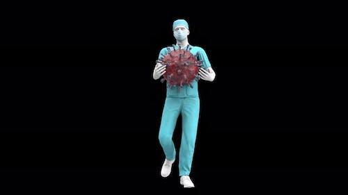 Doctor And Corona Virus - Loop Alpha 4k