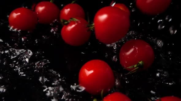 Thumbnail for The Falling Cherry Tomatoes in Water 4