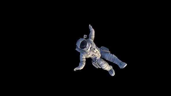 Female Astronaut Falling