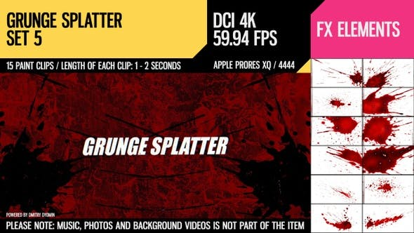 Cover Image for Grunge Splatter (4K Set 5)