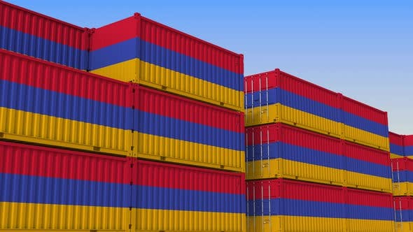 Thumbnail for Shipping Containers with Flag of Armenia