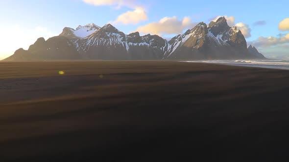 Thumbnail for Sunset at Vestrahorn Mountain and Stokksnes Beach. Iceland