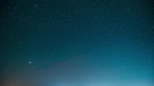 Real Night Stars. Natural Starry Sky Background Backdrop Landscape. Time Lapse