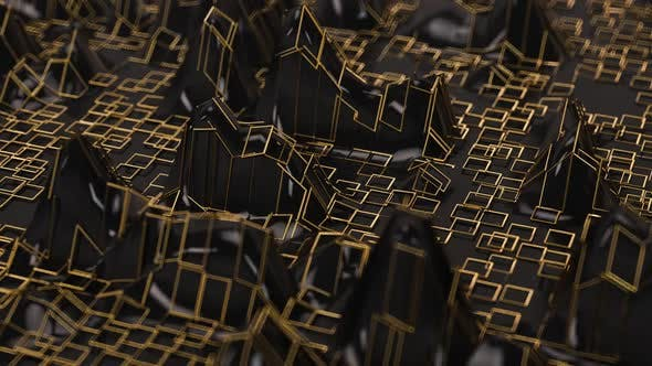 Black And Gold Waves