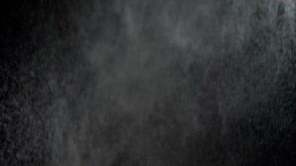 Cover Image for Water Spray Against Black Background. Slow Motion